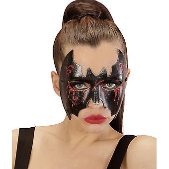 Wolf vleermuis bebloed Halloween vrouw