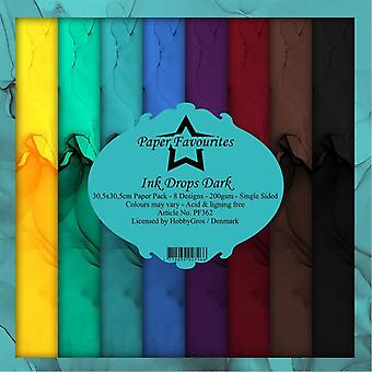 Paper Favourites Ink Drops Dark 12x12 Inch Paper Pack