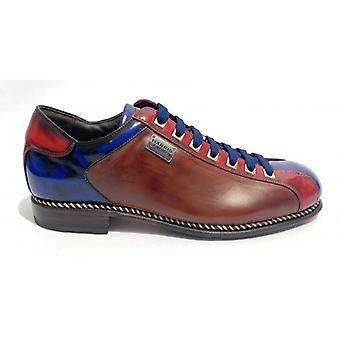 Men's Shoes Harris Braid Bottom Soccer Blue Leather Red U17ha117