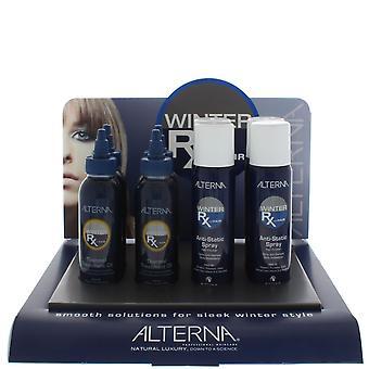 Alterna Winter Rx Display - Anti Static-Spray 92g x4, Thermal Treatment 100ml x4