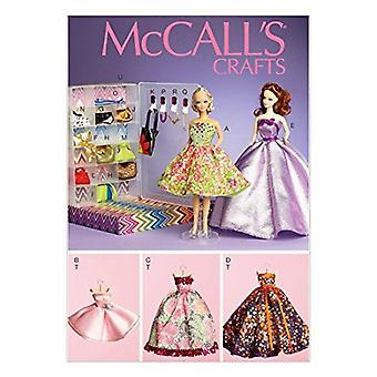 """McCalls Sewing Pattern 6903 0485 11 1/2"""" Doll Dresses One Size Uncut"""