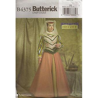 Butterick نمط الخياطة 4375 يفتقد التاريخية عصر النهضة الأزياء حجم 14-20