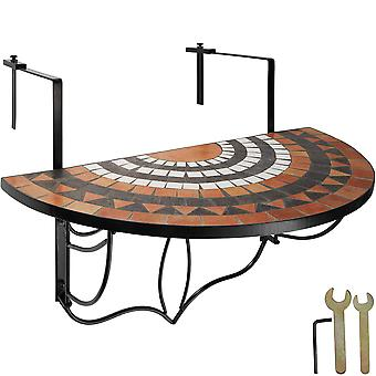 tectake sammenleggbar balkong bordmosaikk