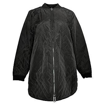 LOGO by Lori Goldstein Women's Jacket Reversible Zip Front Black A370305