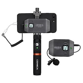 COMICA CVM-WS50(A) 6-Channel UHF Wireless Smartphone Lavalier Microphone System