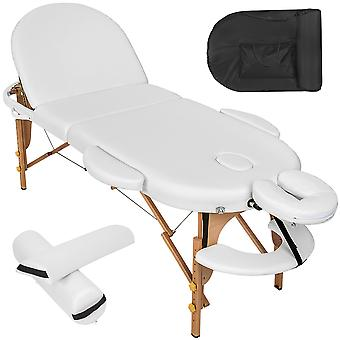 tectake Massagebriks oval med 5cm polstring + ruller - hvid