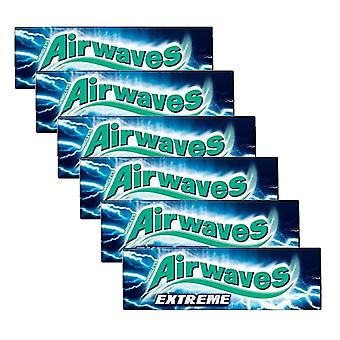 6 x 10 pieces Strong Menthol Eucaliptus Sugarfree Chewing Gum Bubble Oral Care Clean Teeth