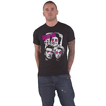Green Day T Shirt Uno Dos Tre Patchwork Album Band Logo Official Mens New Black
