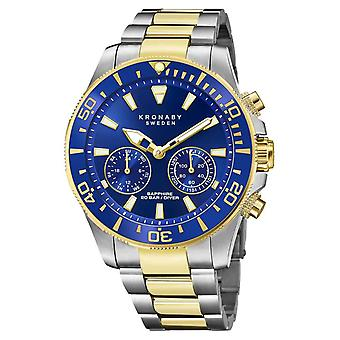 Kronaby Diver Collection | Bluetooth | Blue Dial | Two Tone Steel Bracelet S3779/1 Watch