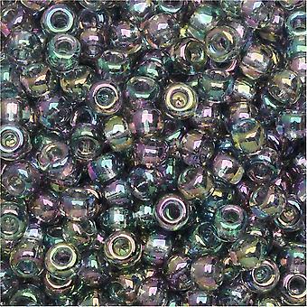 Miyuki Round Seed Beads, 8/0, 22 Gram Tube, #92440 Transparent Gray Iris