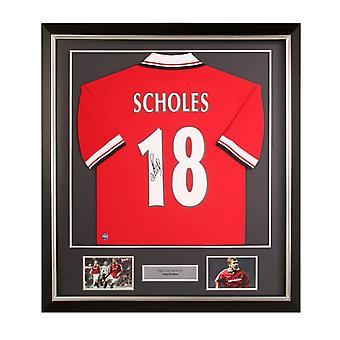 Paul Scholes fichó por la camiseta del Manchester United en 1998. Marco de lujo