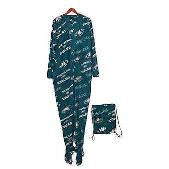 NFL Dames Keystone Union Suit Eagles W / Cinch Bag Green A370755