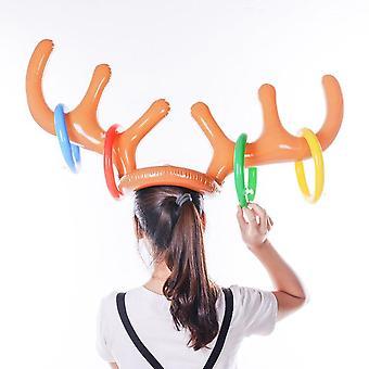 Kids Adult Inflatable Deer Elk Horn Cap