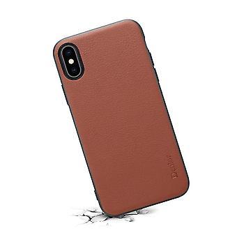 Originele lederen Portemonnee kaart slot case voor iPhoneX / XS bruin