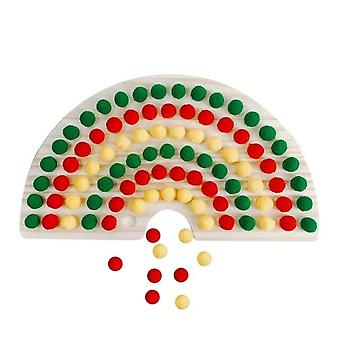 Colorful Building Blocks Small Particles Assembled Educational Toys Counting Matching Sorting