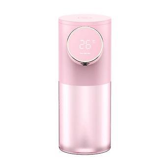 Distributeur automatique de savon USB Distributeurs de mousse liquide rechargeable USB de 320 ml (rose)