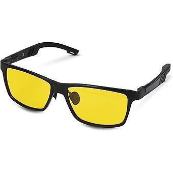 Nachtsichtbrille zum Autofahren - Nacht Brille für Herren und Damen - polarisiert UV400 Gelbfilter -