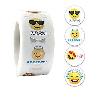 500 adesivi adesivi - Motivo Smiley/Emoji - Cartone animato