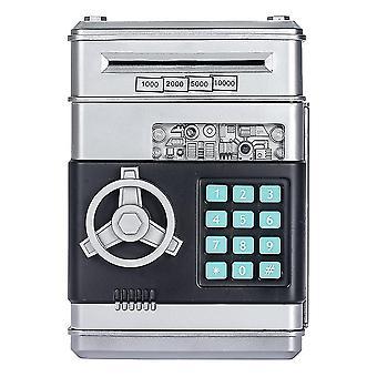 Hopea lasten rahaa säästävä pankkitalletuslaatikko älykäs ääni mini turvallinen kolikko holvi lapsille salasanalla dt2256