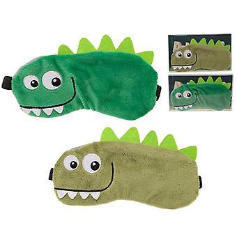 Plüsch Dinosaurier Augenmaske (1 Zufällig geliefert)