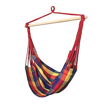 Hangmat schommelstoel 100 x 100 cm – Rode touwen