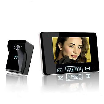 Pantalla de tecla táctil Video Puerta Teléfono Sistema de control de acceso por portero automático