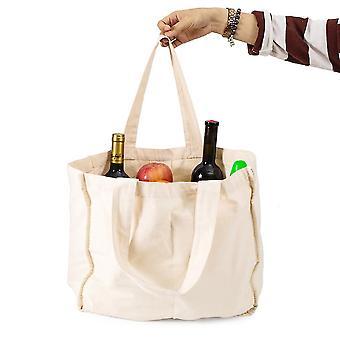 Compartimento de algodón Bolsa de compras Bolsa de lona bolsa de fruta y algodón vegetal bolsa de lona portátil