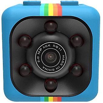 Mini CÁMARA INFRARROJA CÁMARA INFRARROJA VIDEO DE VISIÓN NOCTURNA SQ11 Cámara pequeña Mini Cámara espía Dvr Video Recorder (Azul)