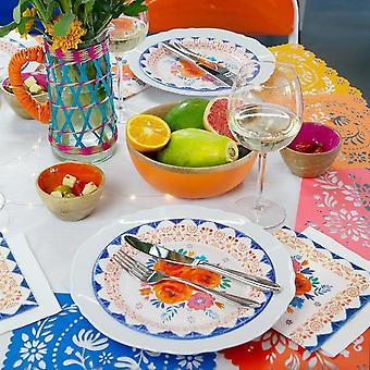 Boho Spice Plates Floral Party Plates x 12