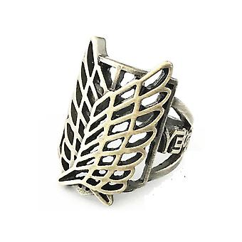 Attack On Titan Anime Ring Cartoon Collection Alloy Finger Ring Golden