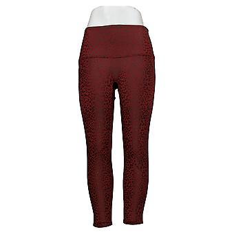 DG2 di Diane Gilman Petite Leggings Slim & Sleek Coated Knit Red725413