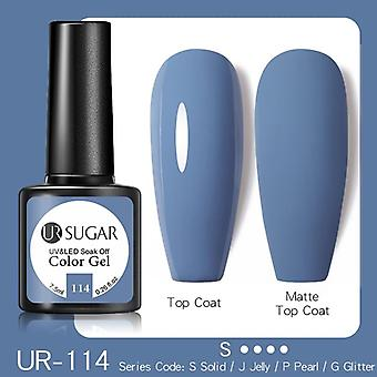 7.5Ml  gel nail polish purple glitter color gel need  top coat hybrid varnish soak off uv gel diy nail art