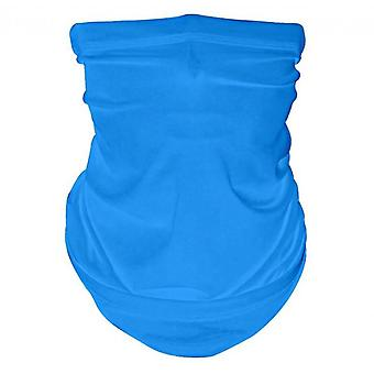 Face Cover Scarf, Summer Cool Breathable Lightweight Sun & Wind-proof(Blue)