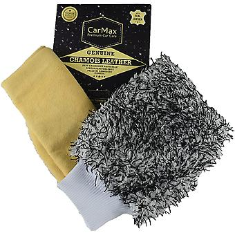 CarMax Chamois & Mitt Value Combo - Our Premium Grade Extra Large Chamois Leather and our