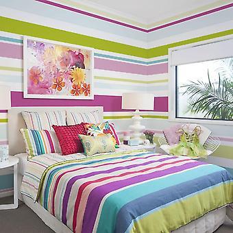 Papier peint géométrique - Bright stripes