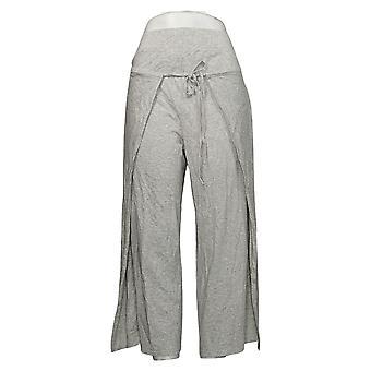 Modern Soul Women's Pants Reg Cropped Tie-Front Gray 690092