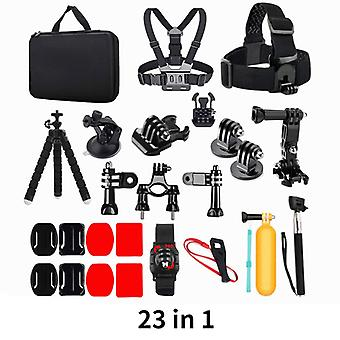 23-In-1for gopro accessories mount set for go pro hero 9 8 7 6 yi 4k mijia insta360 action camera gp18