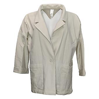 WynneLayers Av MarlaWynne Kvinner Overdimensjonert Buttoned Blazer White 634296