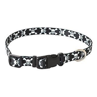 "Pet Attire Styles Skulls Adjustable Dog Collar - 8""-12"" Long x 3/8"" Wide"