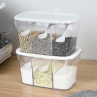 Storage tanks 2pc transparent seasoning box spice storage containers with spoons