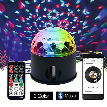 LED RGB Musikspelare Disco Ball Light Club Scen Ljus Röst Fjärrkontroll +USB