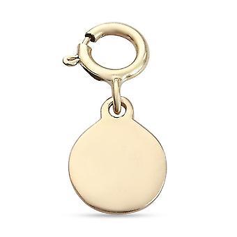 TJC 9K Gelbgold Disc Charm für Frauen in glänzendem Finish