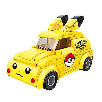 Hot Cartoon Anime Pokemon Pikachu Cute Car Bus Model Building Blocks Bricks Sets Classic Movie Dolls Kids Toys For Children Gift