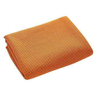 Jäähdytyspyyhe, viileät pyyhkeet mikrokuitu kylmä päänauha Bandana Neck Wrap Oranssi