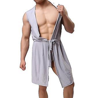 Männer Sexy Bademantel Eis Seide Kapuzen Pyjamas