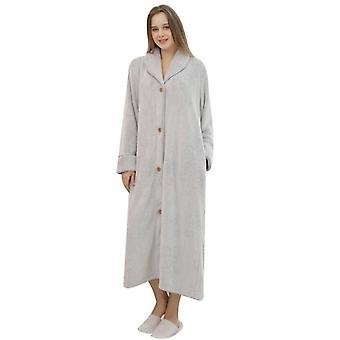 Women Luxurious Plush Kimono Bathrobe With Side Pockets