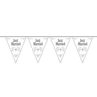 Wimpelkette Girlande Just Married 10m Deko Hochzeit Hochzeitsdeko