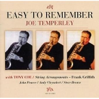 Joe Temperley - Easy to Remember [CD] USA import