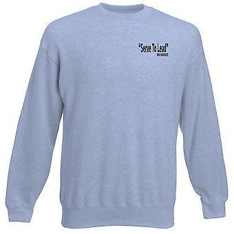 RMAS Sandhurst Motto palvella johtaa tekstin brodeerattu Logo - virkamies - raskaansarjan pusero