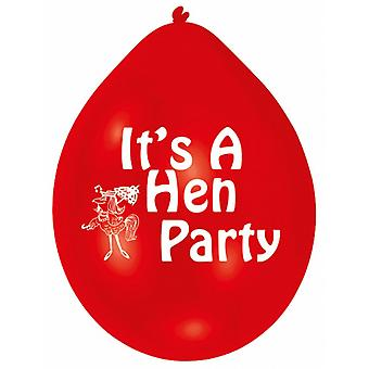 Amscan Multicoloured Hen Party Balloons (Pack Of 10)